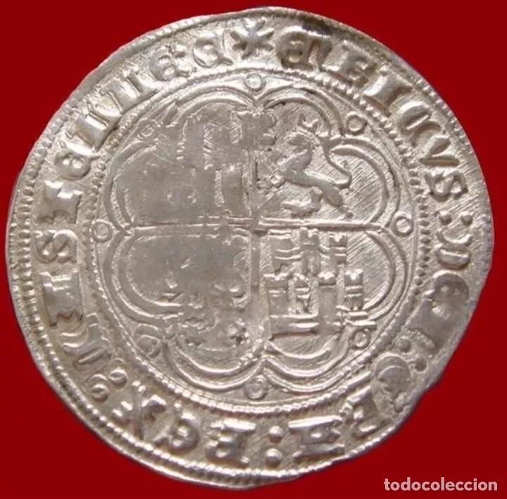 Monedas medievales: Real De Plata Enrique IV 1454-1474 Ceca Burgos Rarísima plata - Foto 2 - 151659769