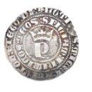 Monedas medievales: INÉDITO REAL DE PEDRO I. CECA: SEVILLA. DOS ROELES EN REVERSO A LA DERECHA DEL ESCUDO. Lote 152561346