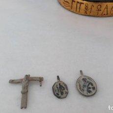 Monedas medievales: LOTE DE MEDALLA MEDIEVAL Y CRUCIFIJO. . Lote 152761802