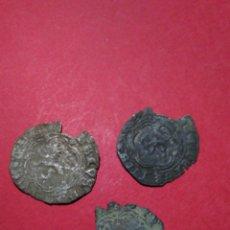 Monedas medievales: LOTE DE 3 BLANCAS MEDIEVALES. CECA DE SEVILLA.. Lote 153247801