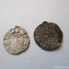 Monedas medievales: LOTE DE DOS VELLONES MEDIEVALES. Lote 156113998