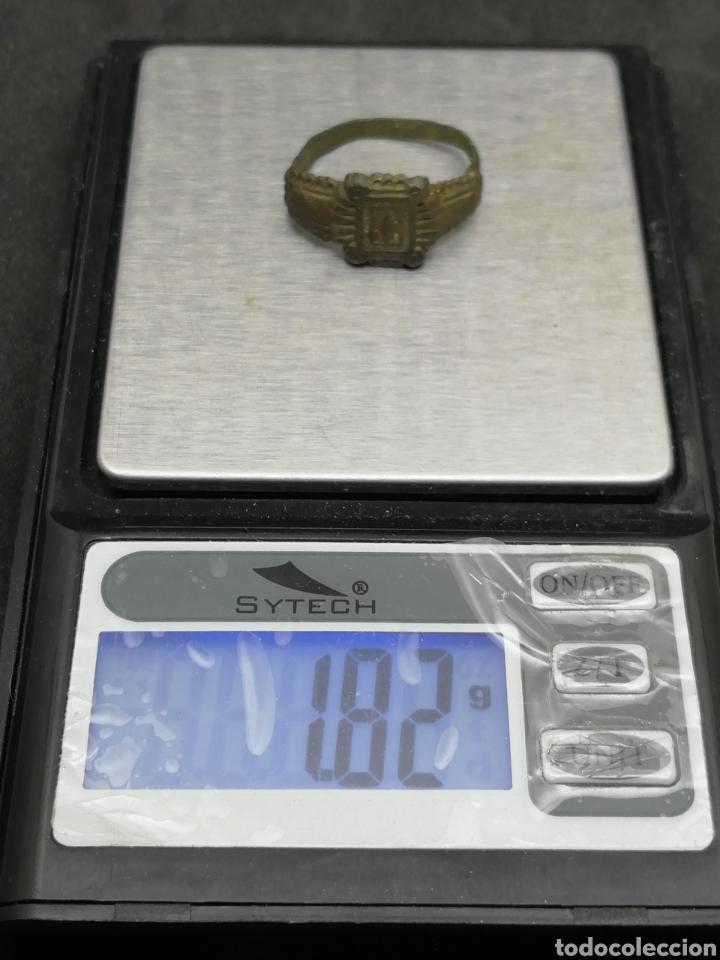 Monedas medievales: Anillo medieval con rombo muy conservado - Foto 5 - 163908158