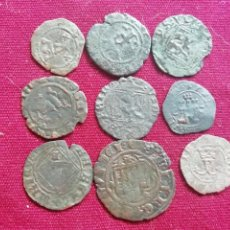 Monedas medievales: SELECCIÓN DE 9 MEDIEVALES. Lote 170116600