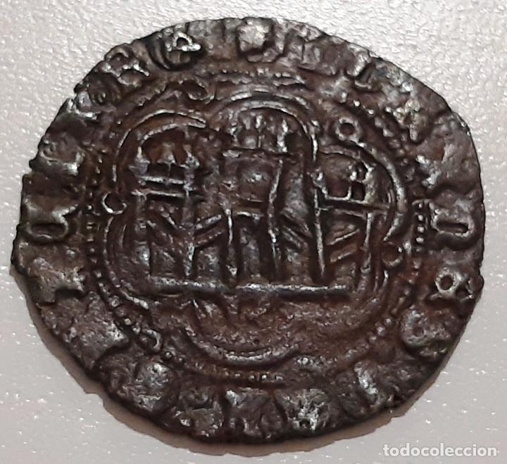 Monedas medievales: JUAN II DE CASTILLA. BLANCA DE VELLON DE BURGOS B - Foto 2 - 174067283