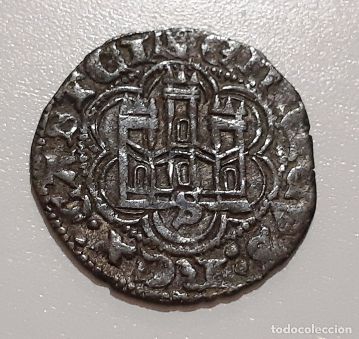 Monedas medievales: ENRIQUE III BONITA BLANCA. VELLON. CECA SEVILLA - Foto 2 - 174067383