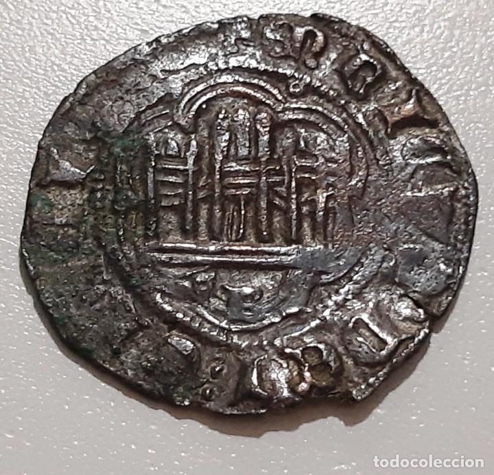 ENRIQUE III BONITA BLANCA. VELLON. CECA BURGOS (Numismática - Medievales - Castilla y León)