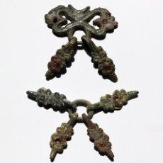Monedas medievales: BONITO JUEGO DE JAECES O PINJATES DE CABALLERIA MEDIEVAL. Lote 176741060