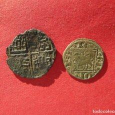 Monedas medievales: ALFONSO X . LOTE DE DOS VELLONES MEDIEVALES. Lote 180127368