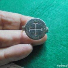 Monedas medievales: BONITO Y ESCASO ANILLO MEDIEVAL EN BRONCE , DIAMETRO INTERIOR 21MM . Lote 180246923