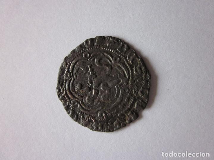 Monedas medievales: Blanca de Juan II. Burgos. Leyenda doble. - Foto 2 - 180260750