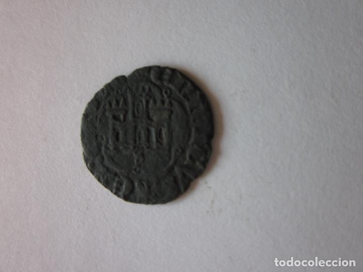 MEDIA BLANCA DE ENRIQUE III. SEVILLA. (Numismática - Medievales - Castilla y León)