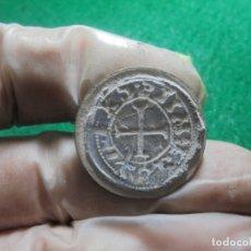 Monedas medievales: BONITO SELLO O BOTON MEDIEVAL CON UNA CRUZ, BRONCE Y PLOMO. Lote 182705052