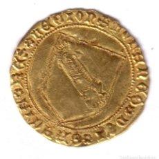 Monedas medievales: REINO CASTILLA DOBLA DE ORO DE LA BANDA REY JUAN II SEVILLA (1406-1454). Lote 184595385