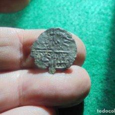 Monedas medievales: BONITO DINERO DE 6 LINEAS DE ALFONSO X , CECA CORUÑA . Lote 184761642