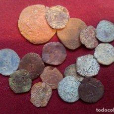Monedas medievales: LOTE DE 16 MONEDAS MEDIEVALES. Lote 185909680