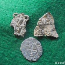 Monedas medievales: LOTE DE 3 INTERESANTES PLOMOS MEDIEVALES ( OFERTA DE ENVIO GRATIS ). Lote 186141882