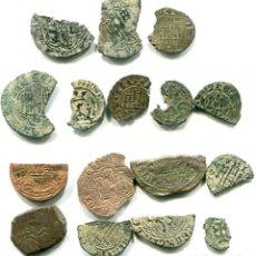 Monedas medievales: 16 PORCIONES MONEDAS MEDIEVALES. Lote 193891467