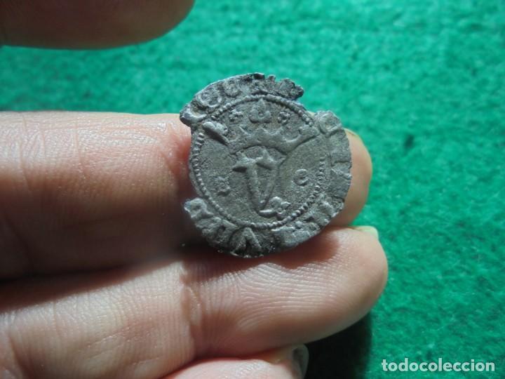 ESCASA BLANCA DEL AGNUS DEI DE LA CECA DE SEGOVIA, S-G (Numismática - Medievales - Castilla y León)