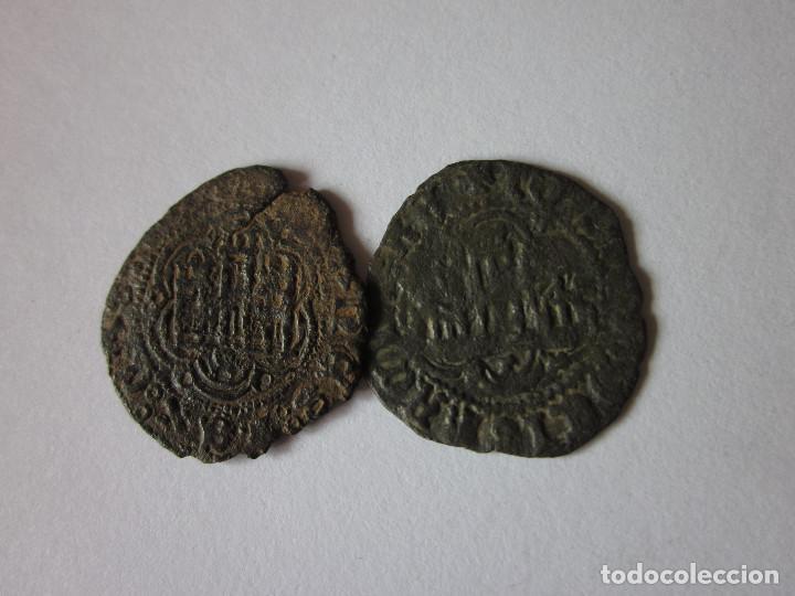 2 BLANCAS DE JUAN II. SEVILLA Y TOLEDO. (Numismática - Medievales - Castilla y León)