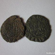 Monedas medievales: 2 BLANCAS DE JUAN II. SEVILLA Y TOLEDO.. Lote 194298186