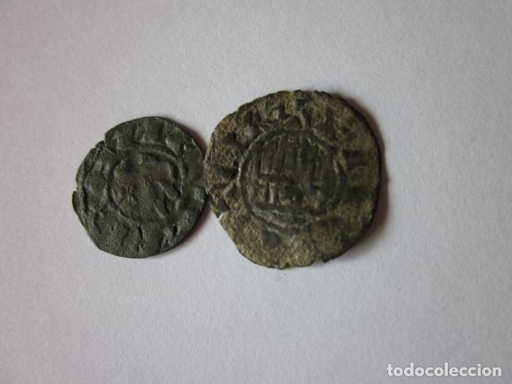 DINERO DE ALFONSO I, TOLEDO Y PEPIÓN DE FERNANDO IV, SEGOVIA. (Numismática - Medievales - Castilla y León)