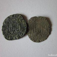 Monedas medievales: 2 BLANCAS DE JUAN II. BURGOS Y CORUÑA.. Lote 194299538