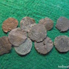 Monedas medievales: LOTE DE 10 MONEDAS CASTELLANAS MEDIEVALES. Lote 195091381
