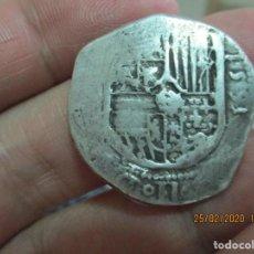 Monedas medievales: 4 REALES DE 1591 L-N , FELIPE II. Lote 195157215