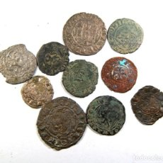 Monedas medievales: LOTE DE DIEZ MONEDAS MEDIEVALES. Lote 195157962