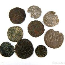 Monedas medievales: LOTE DE NUEVE BONITAS MONEDAS MEDIEVALES. Lote 195158103