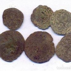 Monedas medievales: INTERESANTE LOTE DE 6 MONEDAS MEDIAVALES. Lote 195318766