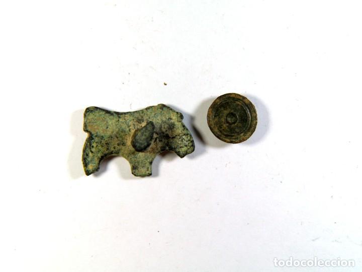 Monedas medievales: PONDERAL MEDIEVAL Y FIGURILLA PREROMÁNICA - Foto 2 - 195761098