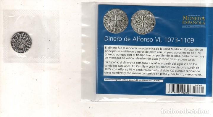Monedas medievales: HISTORIA DE LA MONEDA ESPAÑOLA. EL MUNDO. DINERO DE ALFONSO VI. - Foto 2 - 263262100