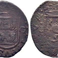 Moedas medievais: FELIPE II. CUENCA. CUARTILLO. ND. CRUZ PATRIARCAL Y G. EN REVERSO CUENCO Y CRUZ PATRIARCAL. EBC-. Lote 197678306