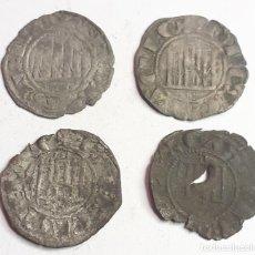 Monedas medievales: BONITO LOTE DE DINEROS DE INFANTE DON ENRIQUE.-( BURGOS ).. Lote 199939801