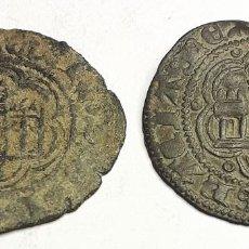 Monedas medievales: BONITO LOTE DE 2 CUARTILLOS DE ENRIQUE IV.BURGOS. Lote 199943997