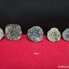 Monedas medievales: 5 MONEDAS CLASIFICABLES VEAN FOTOGRAFIAS. Lote 202466162