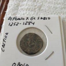 Monedas medievales: ALFONSO X EL SABIO ÓBOLO CASTILLA. Lote 203790726