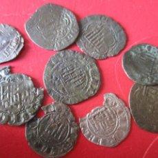 Monedas medievales: LOTE DE 9 MONEDAS MEDIEVALES DE CASTILLA Y LEON. Lote 204700547