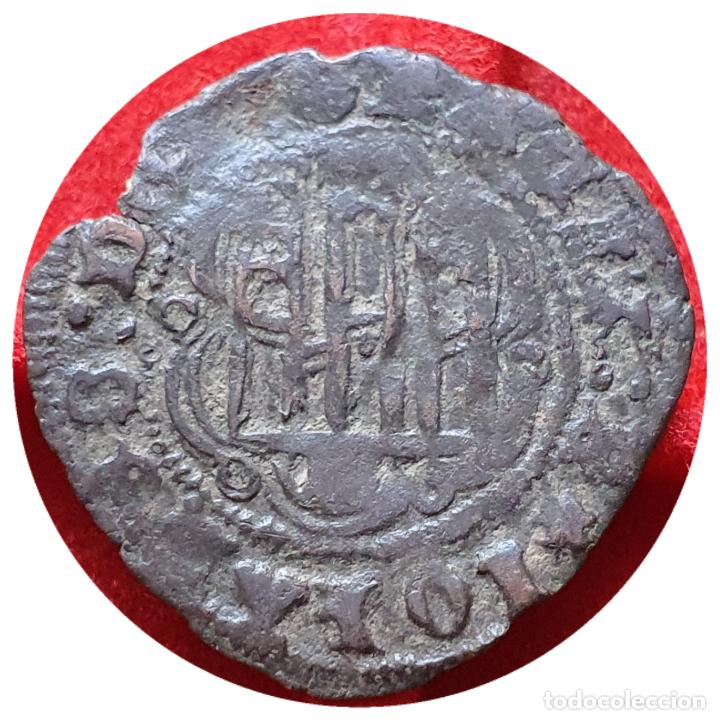 INTERESANTE BLANCA JUAN II BURGOS B. LEYENDA DEL ANVERSO IOHANES EMPIEZA A LAS 5 HORAS (Numismática - Medievales - Castilla y León)
