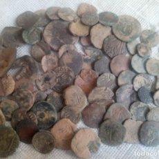 Monedas medievales: LOTE DE 65 MONEDAS ANTIGUAS ESPAÑOLAS DEL REINADO DE LOS AUSTRIAS.. Lote 205063725