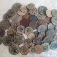 Monedas medievales: LOTE DE 40 MONEDAS DE LA EPOCA DE LOS BORBONES Y REPUBLICA DE 1870.. Lote 205063826