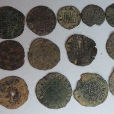 Monedas medievales: ALFONSO I - ENRIQUE IV, LOTE DE 13 MONEDAS. Lote 206759730