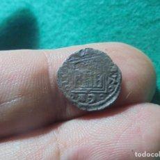 Monedas medievales: BONITO OBOLO DE ALFONSO X , CECA CORUÑA, CON ERROR DE ACUÑACION EN EL CASTILLO. Lote 217695715