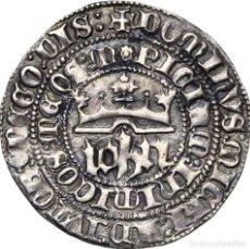 Monedas medievales: 1 REAL JUAN I .CASTILLA Y LEÓN, (1379-1390), SEVILLA.AB. 539.1. D / IOHN 3.18G.MUY ESCASO MBC+. Lote 218219342