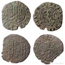 Monedas medievales: BLANCAS DE ENRIQUE III Y JUAN II. TOLEDO Y CORUÑA. (642-LM). Lote 218758697