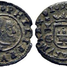 Monedas medievales: FELIPE IV. CUENCA. 4 MARAVEDÍS. 1663. CA ACOPLADAS. CUENCO Y CA. 1 G. EBC+. Lote 221233248