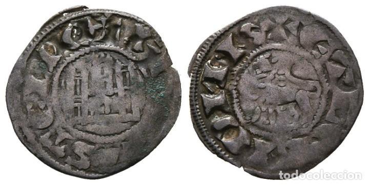 *** BONITO DINERO DE FERNANDO IV (1295-1312) MARCA DE CECA 3 PUNTOS BAJO EL CASTILLO *** (Numismática - Medievales - Castilla y León)