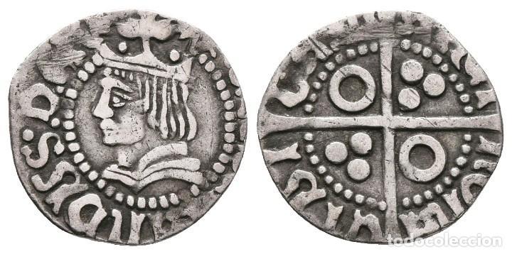 *** ESCASO 1/2 CROAT DE FERNANDO II (1479-1516) BARCELONA. CAL-126. PLATA *** (Numismática - Medievales - Castilla y León)