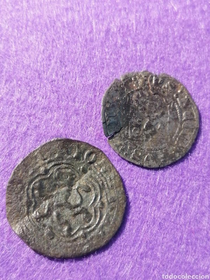 Monedas medievales: Enquire III dos monedas Coruña y Burgos - Foto 2 - 221822316